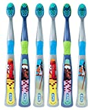 Oral-B Kids Toothbrush, Pro-Health Stages Disney Pixar Cars & Planes for Children Ages 5-7 Years Old, Soft (Pack of 6) - ASSORTED CHARACTERS