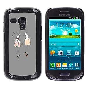 Gris Música Dance Party mujer Moda- Metal de aluminio y de plástico duro Caja del teléfono - Negro - Samsung Galaxy S3 MINI i8190 (NOT S3)