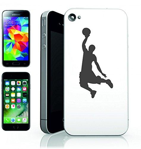 Smartphone Case Silhouette giocatore di basket salto di Risultato della Slam Dunk della sfera di Colpo di azione di attività per Apple Iphone 4/4S, 5/5S, 5C, 6/6S, 7& Samsung Galaxy S4, S5, S6, S6