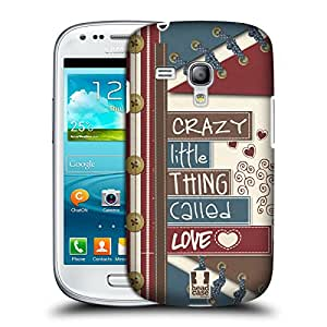 Head Case Designs Crazy Little Thing Crafts in Love Protective Snap-on Hard Back Case Cover for Samsung Galaxy S3 III mini I8190