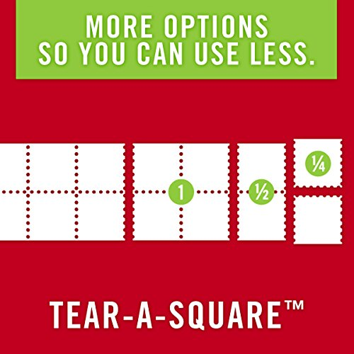Brawny Tear-A-Square Paper Towels, 12 Rolls, 12 = 24 Regular Rolls, 3 Sheet Size Options, Quarter Size Sheets by Brawny (Image #5)