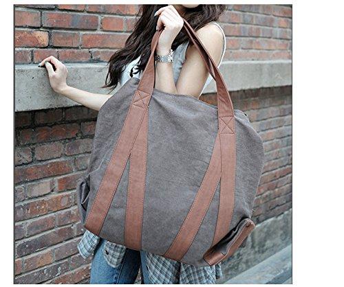 Outdoor peak damen Umhängetasche Leinwand outdoor shopping bag Sport Reisetasche daypacks Brieftasche Messenger Braun vintage (schwarz) schwarz ygabMF