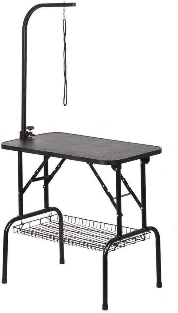 トリミング台 トリミングテーブル 一般的なCの表面美容デスクInlessアームアンチ犬グルーミング表ステンレスアーム折りたたみペットのIng表抗静的サーフェス (Size : 80X46X76 CM)