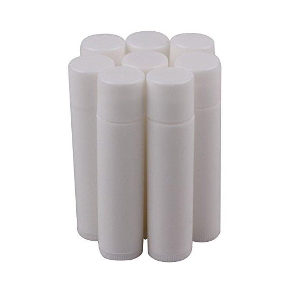 20pcs 5 G vací o plá stico botella de maquillaje DIY Tubo de Bá lsamo para Labios Brillo De Labios Pintalabios recipiente con tapa color blanco erioctry