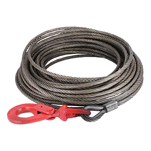 "Windshield Replacement Come To You >> VEVOR Winch Cable Replacement 3/8""x 100' Wire Rope 4400lbs for Tow Trucks Roll Backs and ..."