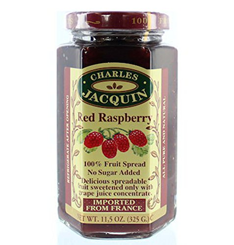 Charles Jacquin French All Natural Fruit Spread 11.5 Ounce Imported From France (Red Raspberry)