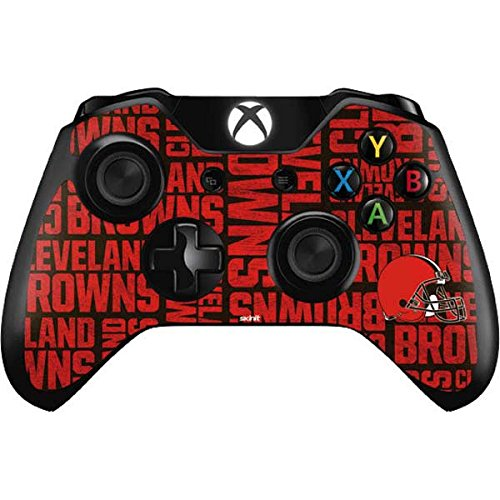 Skinit Cleveland Browns - Blast Xbox One Controller Skin - Officially Licensed NFL Gaming Decal - Ultra Thin, Lightweight Vinyl Decal Protection