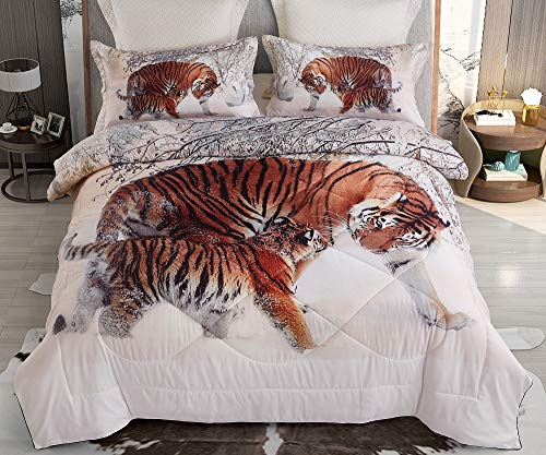 cute tigers print comforter set