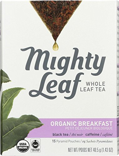 Mighty Leaf Tea, Organic Breakfast, Whole Leaf Pouches, 1.32 Ounce, 15 Count