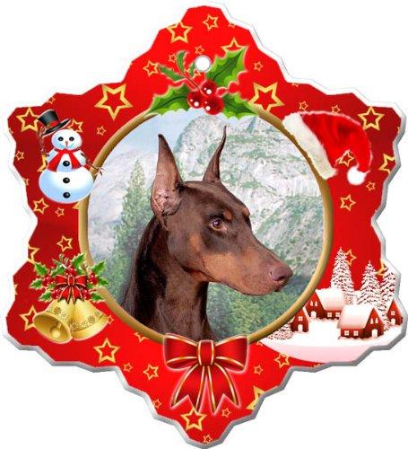 - Doberman Pinscher Porcelain Holiday Ornament