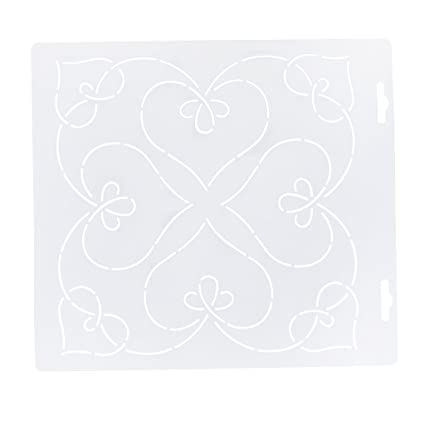 DIY Plastic Quilting Stencil Template Tool for DIY Patchwork Sewing Craft #1