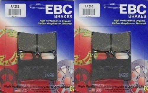 EBC Kevlar Organic Front Brake Pads (2 Sets) for Both Calipers 2002-2005 Yamaha XV1700PC Road Star Warrior FA252