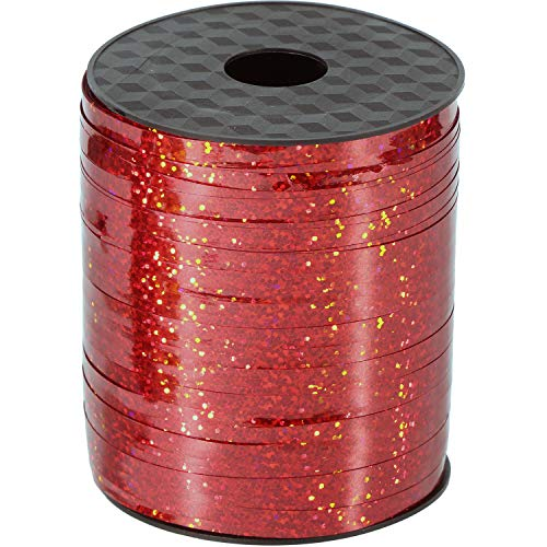 Willbond 500 Yards Curling Ribbon Metallic Balloon Roll for Party Festival Art Craft Decor and Wrapping (Red)