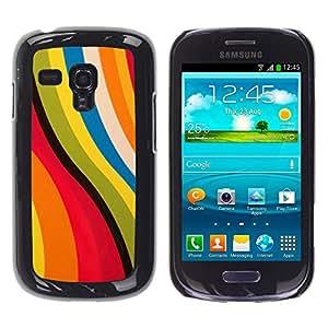 iKiki Tech / Estuche rígido - Pink Yellow Abstract Pastel Colors - Samsung Galaxy S3 MINI NOT REGULAR! I8190 I8190N