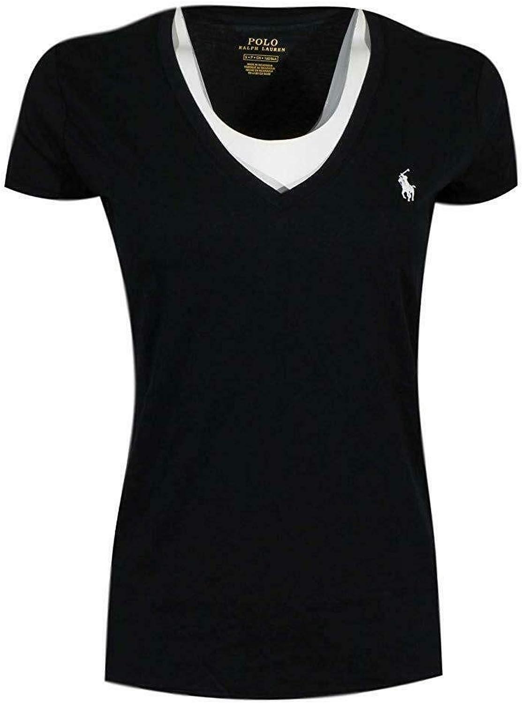 Polo Ralph Lauren Mujer Pony Logo Camiseta de Cuello (X-Small ...