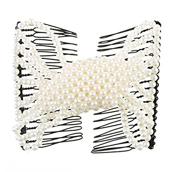 Magic Beads Double Women/Ladies Hair Clip Stretchy Hair Combs Clips A1150-2-3