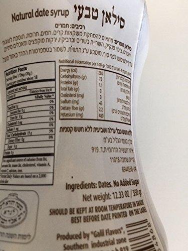 100% DATES SYRUP,SILAN,Sugar Free,Convenient Squeeze Bottle, 12.33oz,KOSHER