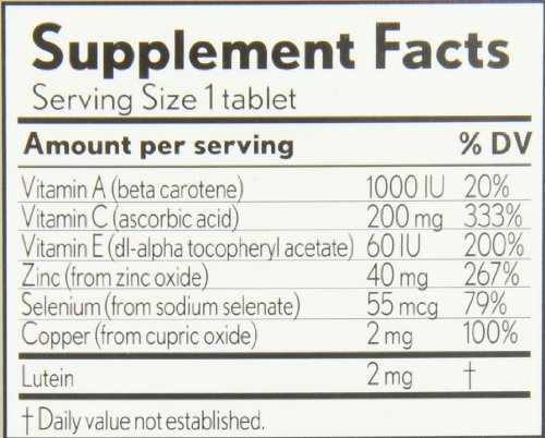 Bausch + Lomb Ocuvite Eye Vitamin & Mineral Supplement with Lutein - 240 Tablets (Pack of 3) by Bausch & Lomb (Image #2)