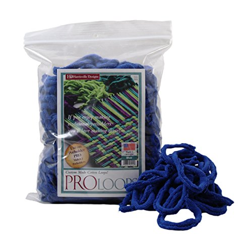 "Harrisville Designs PRO 10"" Cotton Loops, Blue - Makes 2 ..."