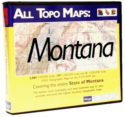 Amazoncom IGage All Topo Maps Montana Map CDROM Windows Cell - Montana topo map