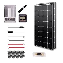 RENOGY® Premium Solar Panel Kit 100W Monocrystalline Off Grid: 2pc 100W Mono solar panel UL Listed + 20A MPPT Charge Controller + MC4 20Ft Adapter Kit + 8ft Tray Cable 10 AWG + 2 Sets Mounting Z Brackets
