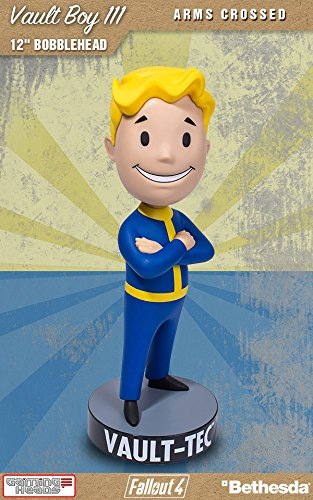 Price comparison product image Fallout 4 Bobble-Head Vault Boy 111 Arms Crossed 30 cm Gaming Heads Peluches
