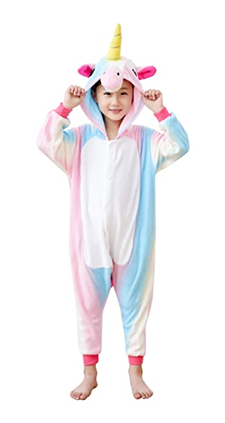 Goldtry Soft Flannel Kids Animal Cosplay Costumes Pajamas Cute Multi-Colors  Anime Jumpsuits (85 a2be7d283