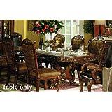 Amazon Com Oak Finish Queen Anne Sofa Table Kitchen Amp Dining