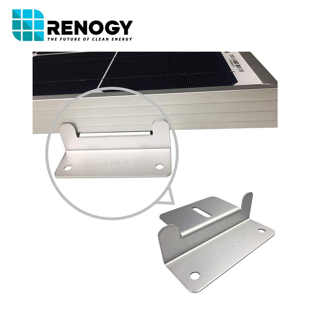 Renogy 4 Sets of Solar Panel Mounting Z Brackets for RV, Boat, Wall and Other Off Gird Roof Installation, 4 Pack by Renogy (Image #3)