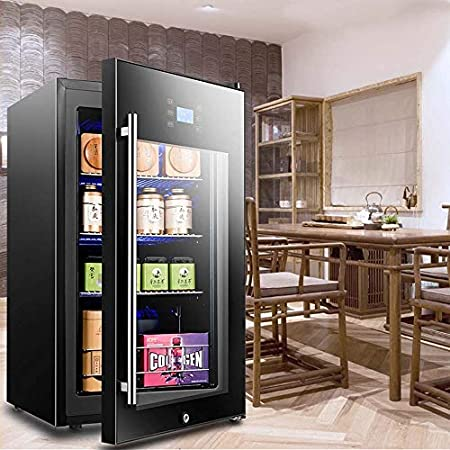 Atten Compacta del refrigerador de Vino de 3 Capas Vino Blanco Rojo Chiller refrigerador de la casa encimera Vino Enfriador de Botella con Puerta de Vidrio Capacidad 95L