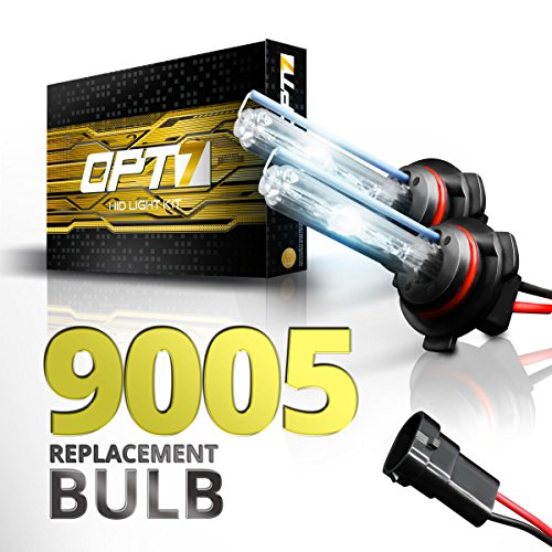 OPT7 2pc Bolt AC 9005 Replacement HID Bulbs [8000K Ice Blue] Xenon Light