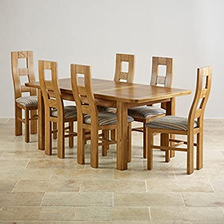 Oak Furniture Land Orrick 4ft 7quot X 3ft Rustic Solid Extending Dining Table