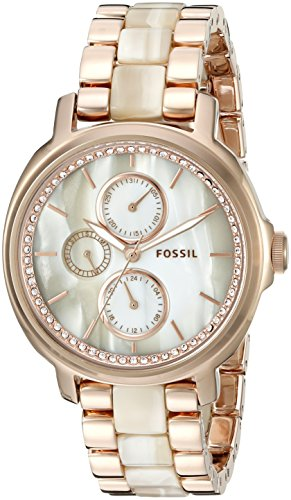 Fossil Women S Es3890 Rose Gold Tone Stainless Steel And