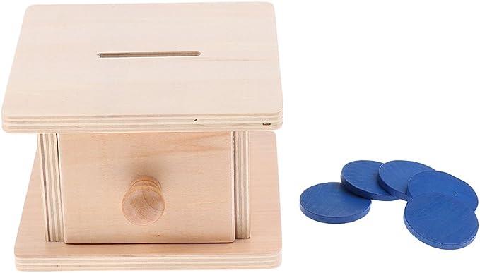 Montessori Caja De Monedas De Madera Hucha Infantil Bebé IQ Educativo Aprenda Juguetes: Amazon.es: Juguetes y juegos