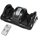 Best Choice Products Therapeutic Shiatsu Kneading and Rolling Compact Electric Foot Massager w/Remote Control, 3 Modes - Black