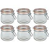 Argon Tableware Preserving/Biscuit Glass Storage Jars - 500ml - Pack of 6