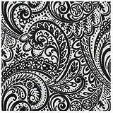 WAVERLY EASY BREEZY PEVA TABLECLOTH, 52X70 OBLONG (RECTANGLE), BLACK & WHITE