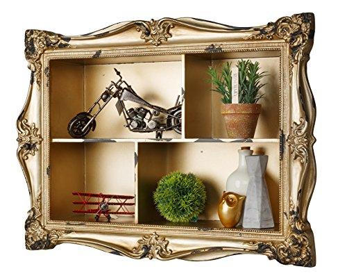 AdirHome Ornamental Wood Wall Shelf with 4 Sections by AdirHome (Image #1)
