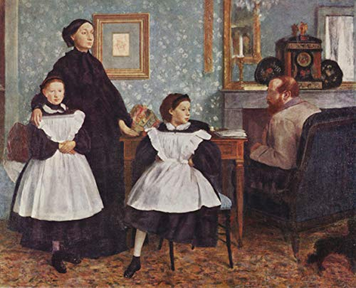 Home Comforts Peel-n-Stick Poster of Degas, Edgar Germain Hilaire - Portrait of The Bellelli Family Vivid Imagery Poster 24 x 16 Adhesive Sticker Poster Print
