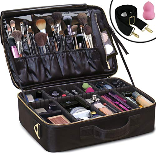Daniel-Harris-Makeup-BagCosmetic-bag-Makeup-Case-with-Adjustable-Dividers-Use-as-Travel-Make-up-Bag-Organizer-Portable-Water-Resistant-Makeup-Bags-for-Women