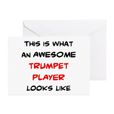 Amazon Cafepress Awesome Trumpet Player Greeting Card