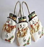 Snowman Shower Curtain 12 PCS Home Fashion Decorative Anti Proof Christmas Snowman Curtain hooks