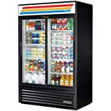 True GDM-45-LD Black Glass Door 45 Cu. Ft. Refrigerator Merchandiser
