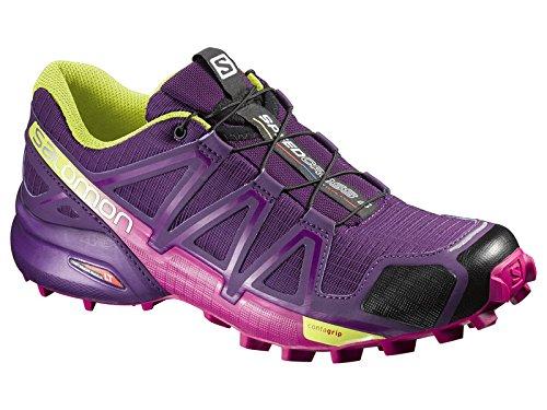 Salomon L38310300, Zapatillas De Trail Running para Mujer Morado (Cosmic Purple /             Deep Dalhia /             Gecko Gre)
