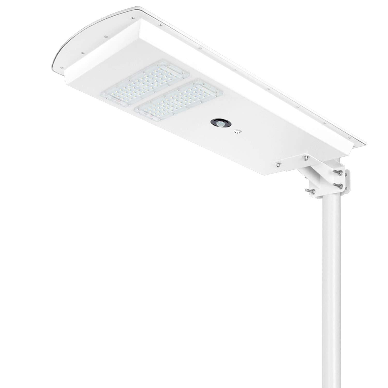 TENKOO 40W Intelligent Solar Street Lights Dusk to Dawn 4500 Lumens Ultra Bright Night/PIR Motion Sensor Wireless Waterproof IP65 Area Security Outdoor Commercial Lighting for Gutter Garden Path