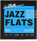 LaBella 20PCM Jazz Flats Stainless Steel Flat Wound Medium Electric Guitar Strings