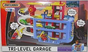 Amazon Com Matchbox Tri Level Garage Playset Toys Amp Games