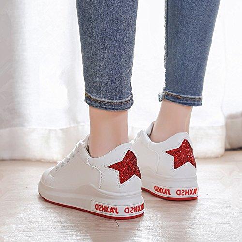 El Zapatos Perfil Zapatos Para Inferior Zapatos Caminar Bajo Zapatos Los Junta Mujer De Plana Zapatos Primavera A Estudiantes Zapatos Solo GAOLIM Cómodos rojo De Bq4Xp6
