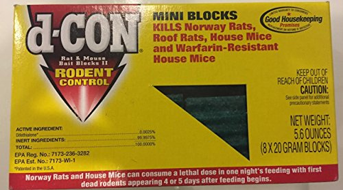 D-con - Rat & Mouse Bait Blocks - 8 Ct. CAN NOT SHIP TO CALI