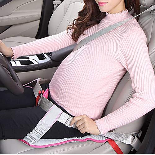 LXXQ Las Mujeres Embarazadas De Coche Especial Cinturón De Seguridad Clip Correa Cojines De Asiento con Una Correa para...
